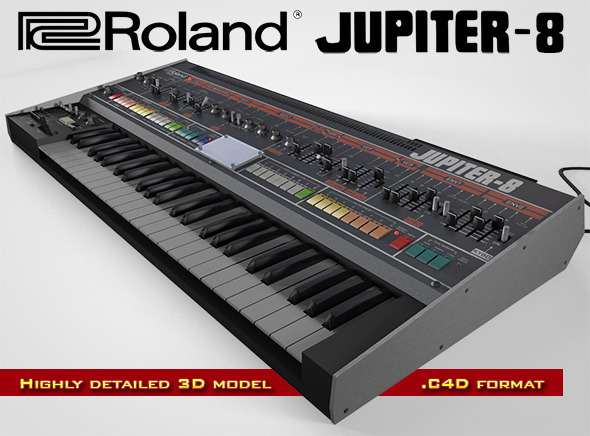 Roland Jupiter-8 - 3DOcean Item for Sale