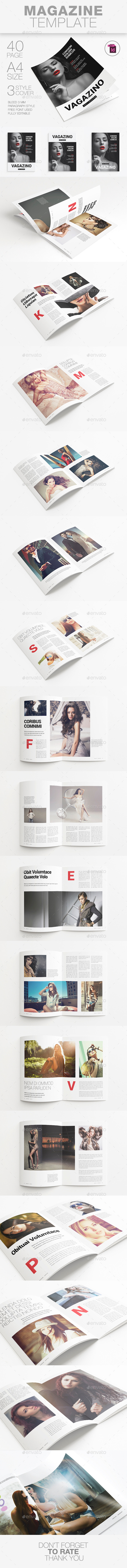 A4 Magazine Template - Magazines Print Templates