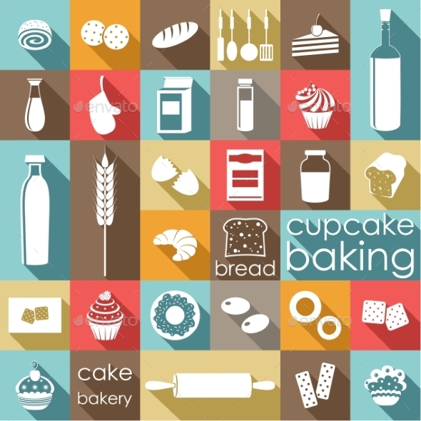 Baking Flat Set - Food Objects