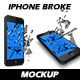 New Glass Broken Iphone Mockups - GraphicRiver Item for Sale