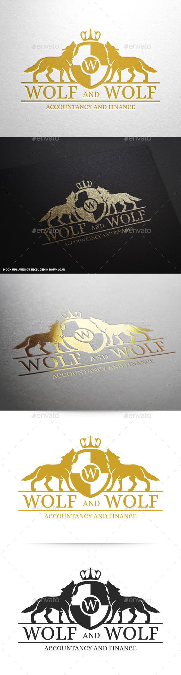 Royal Wolf Logo Template - Animals Logo Templates