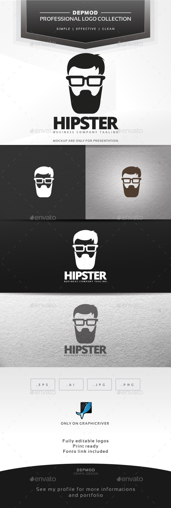 Hipster Logo - Humans Logo Templates