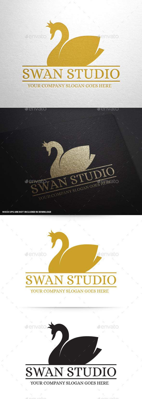 Swan Studio Logo Template - Animals Logo Templates