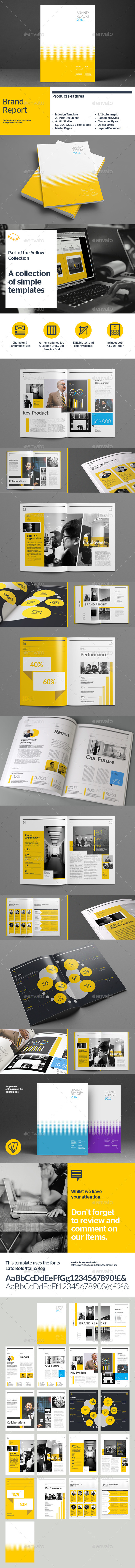 Brand Report - Informational Brochures