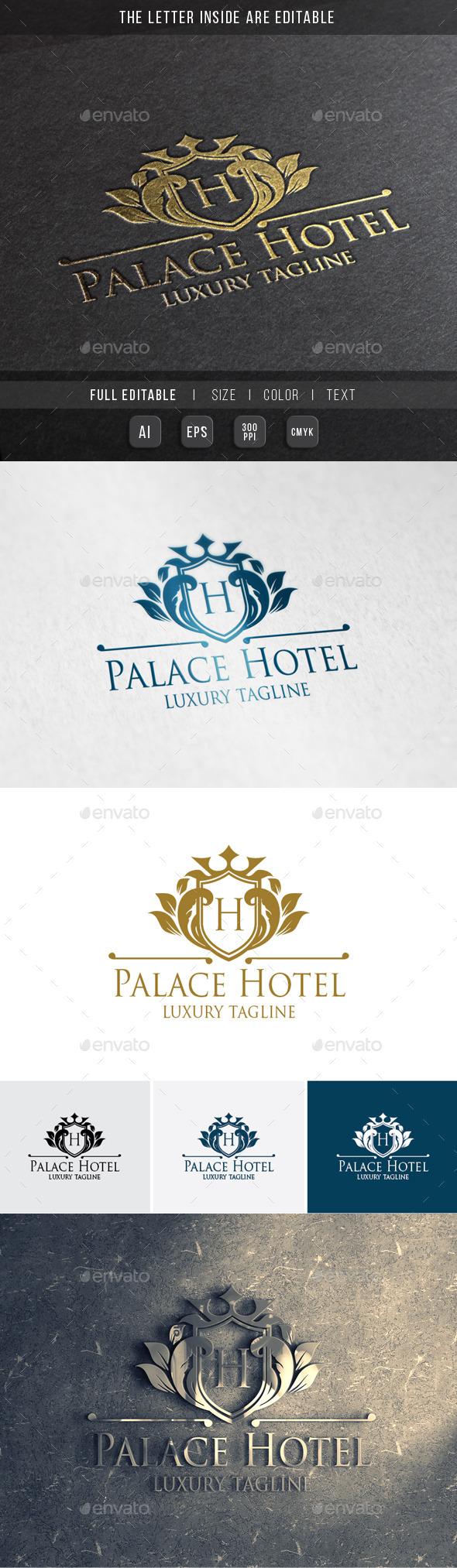 Royal Palace - Luxury Hotel - Crests Logo Templates