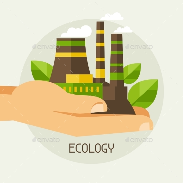 Ecology Protection Concept - Industries Business