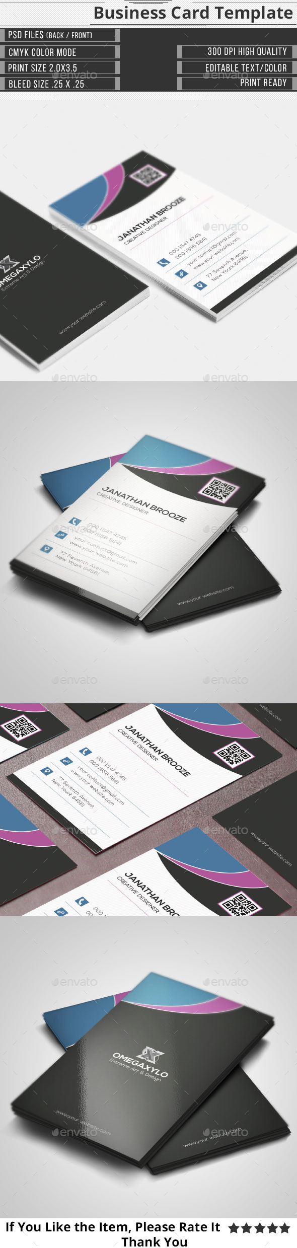 Simple Creative Corporate Business Card - Creative Business Cards