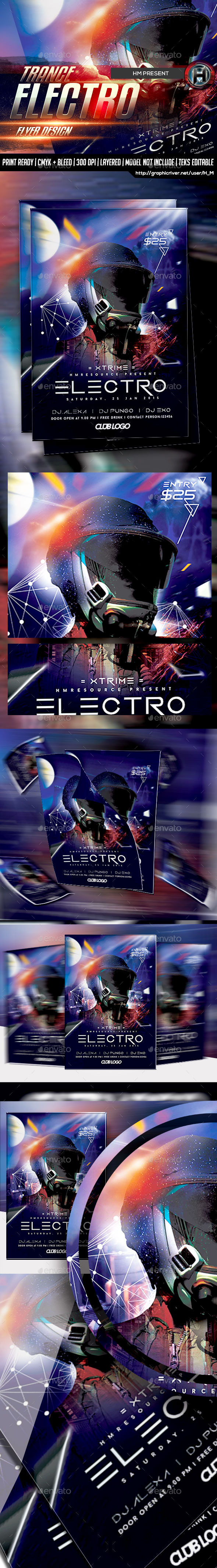 Electro DJ Guest Flyer - Events Flyers