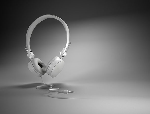 Maya 3D White Headset  Model  - 3DOcean Item for Sale