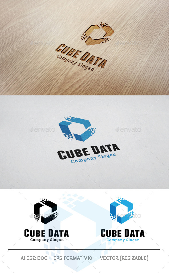 Cube Data Logo - Abstract Logo Templates