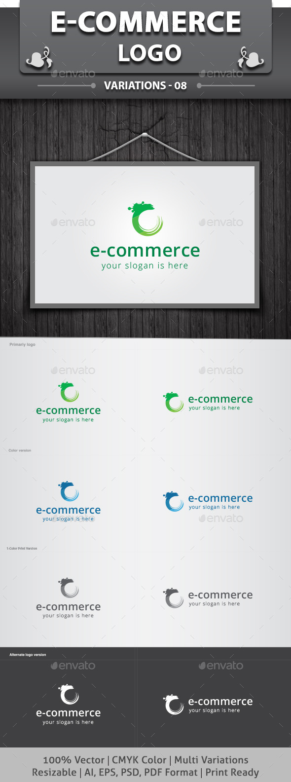 E-Commerce Logo - Abstract Logo Templates