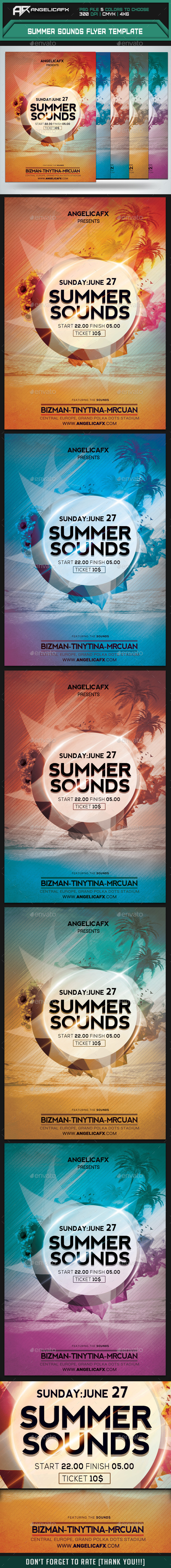 Summer Sounds Flyer Template - Events Flyers