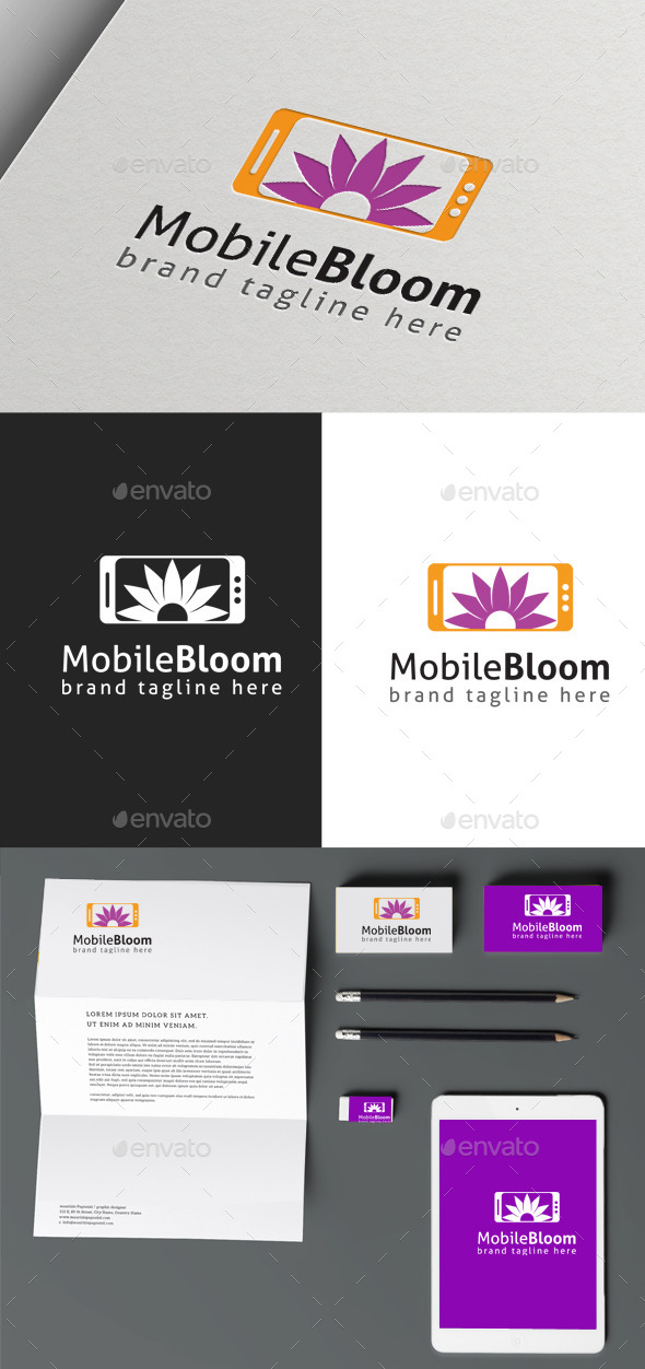 Mobile Bloom - Nature Logo Templates