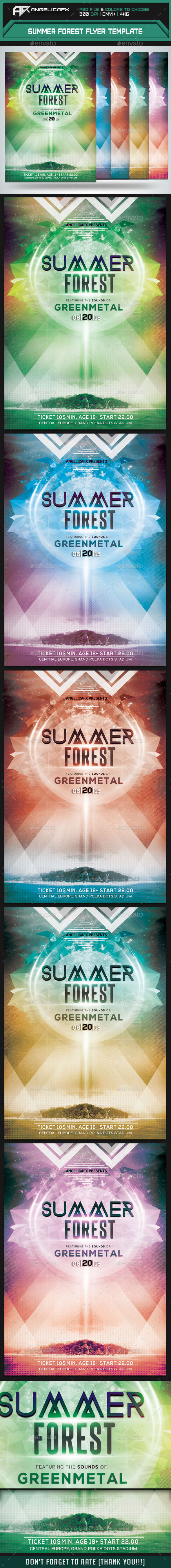 Summer Forest Flyer Template - Events Flyers
