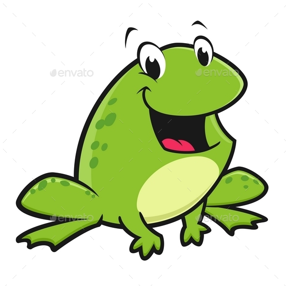 Cartoon Funny Frog - Animals Characters
