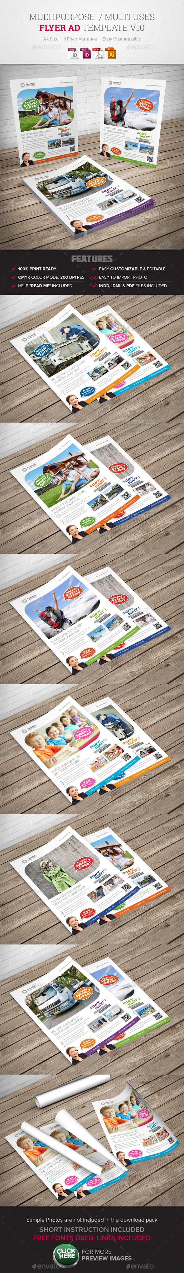 Corporate/ Multipurpose Flyer Ad v10  - Corporate Flyers