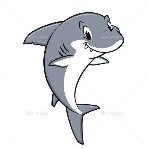 Cartoon Friendly Shark - Animals Characters