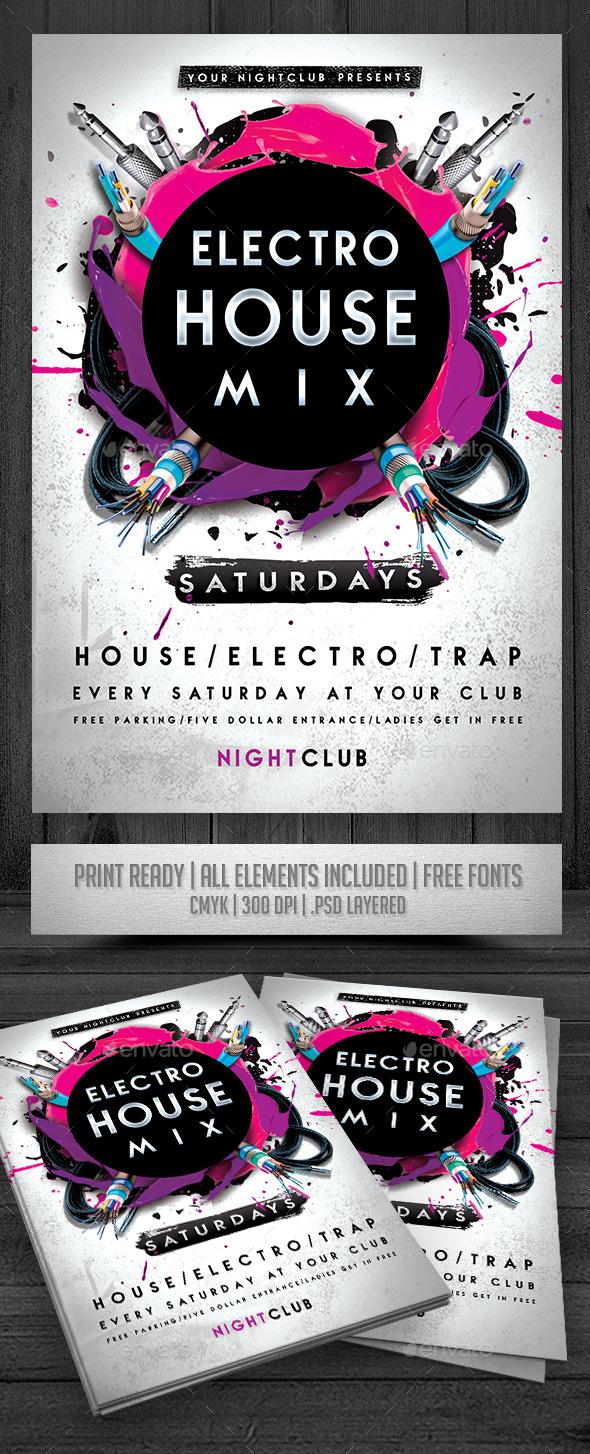 Electro House Mix Flyer - Events Flyers