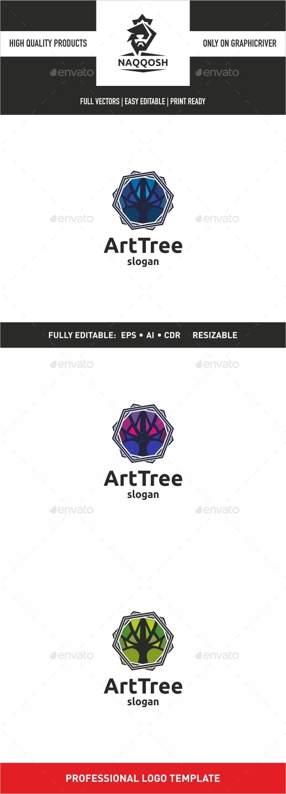 Art Tree - Symbols Logo Templates