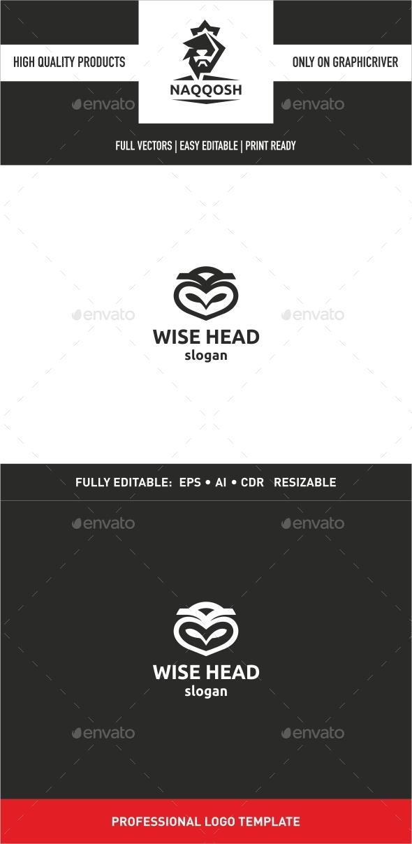Wise Head - Animals Logo Templates