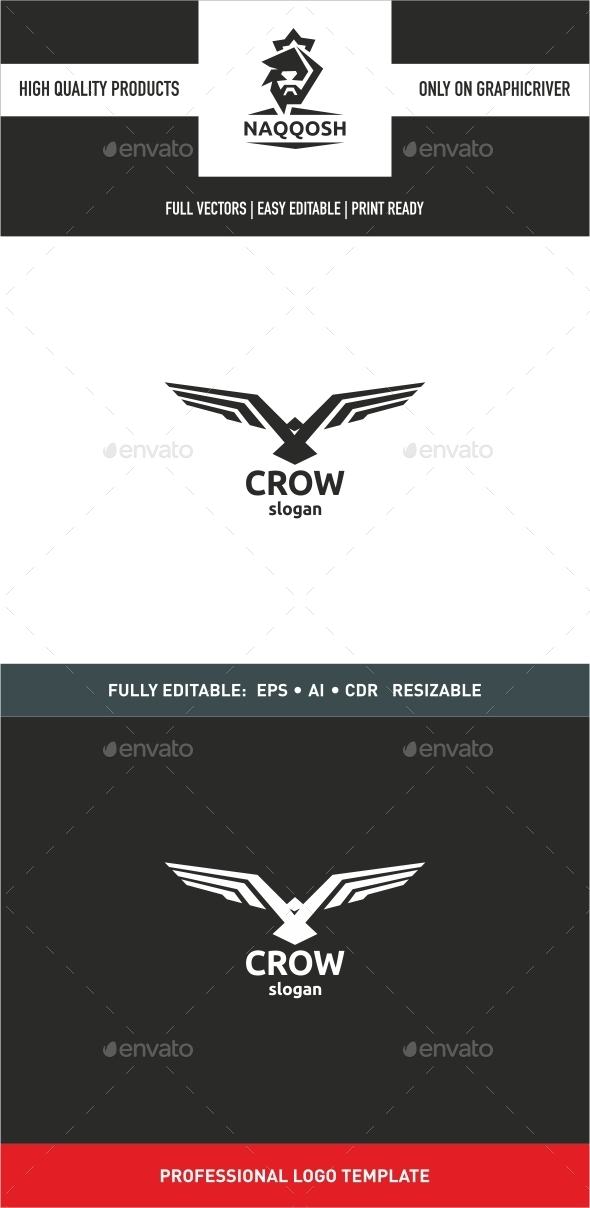 Crow - Abstract Logo Templates