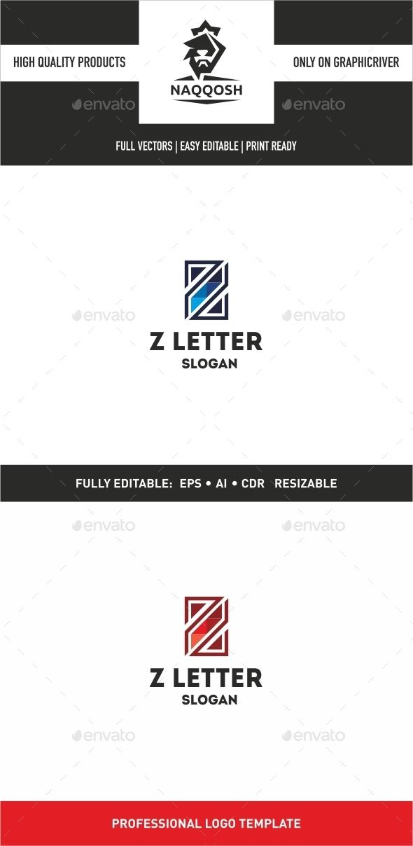 Z Letter - Letters Logo Templates