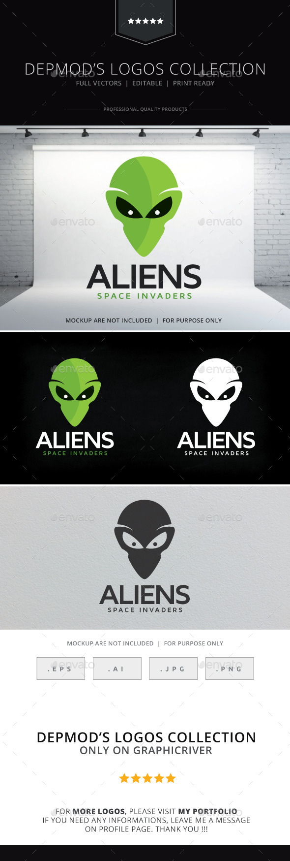 Aliens Logo - Objects Logo Templates