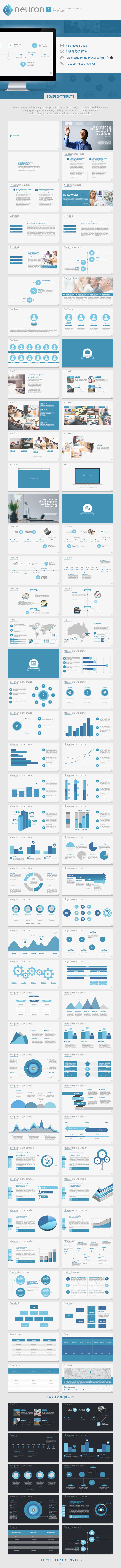 Neuron Two PowerPoint Presentation Template  - Business PowerPoint Templates