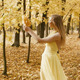 Happy Woman Walking Between Trees - VideoHive Item for Sale