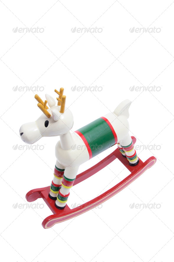 Miniature Wooden Rocking Horse - Stock Photo - Images