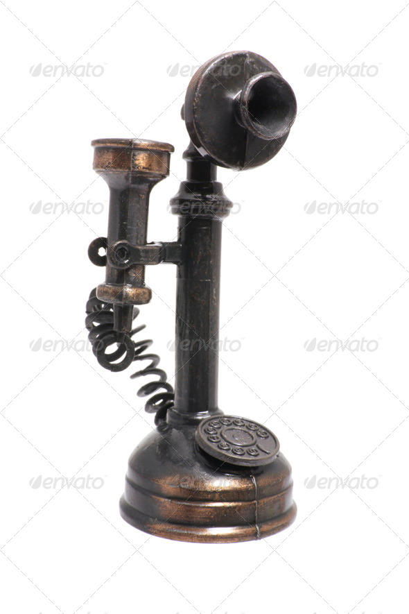 Antique Telephone - Stock Photo - Images