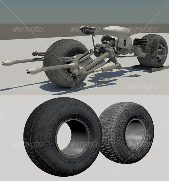 Batpod 3d Model + Shaders - 3DOcean Item for Sale