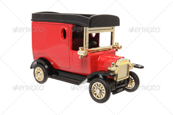 Miniature Antique Van - Stock Photo - Images