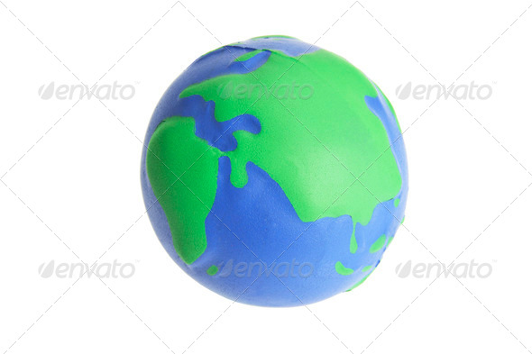 Globe Stress Ball - Stock Photo - Images