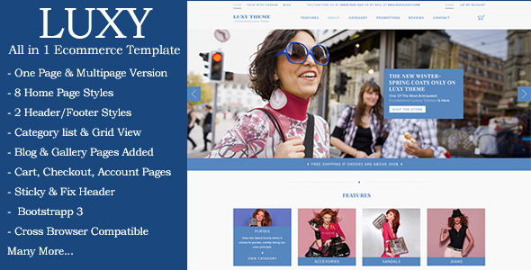 Luxy – Ecommerce HTML Template