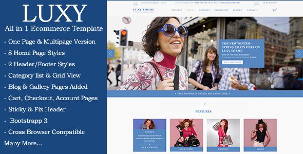 Luxy - Ecommerce HTML Template