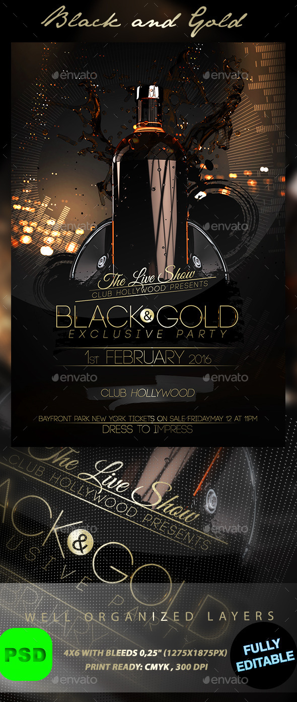 Black and Gold - Events Flyers
