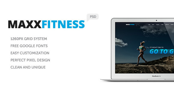 Maxx Fitness PSD Template - Health & Beauty Retail