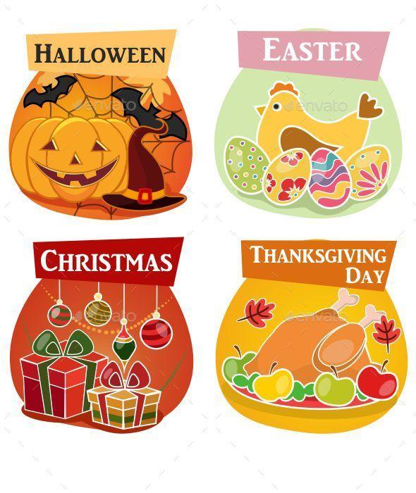 Holiday Icons - Seasons/Holidays Conceptual