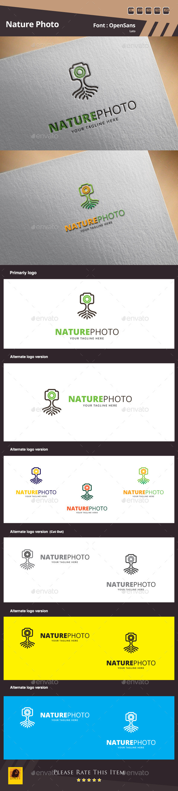 Nature Photo Logo Template - Symbols Logo Templates