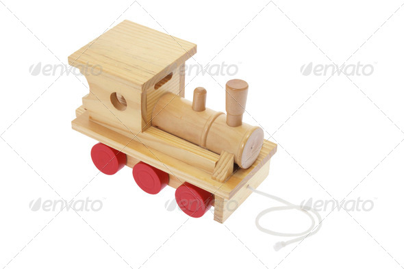Wooden Toy Tain - Stock Photo - Images