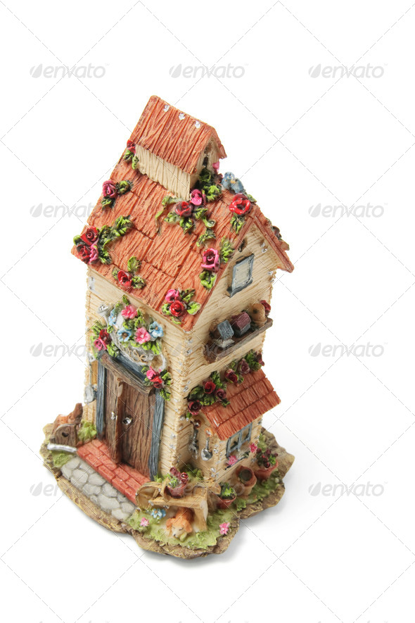 Miniature House Ornament - Stock Photo - Images