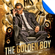 Golden Boy Birthday Flyer Template
