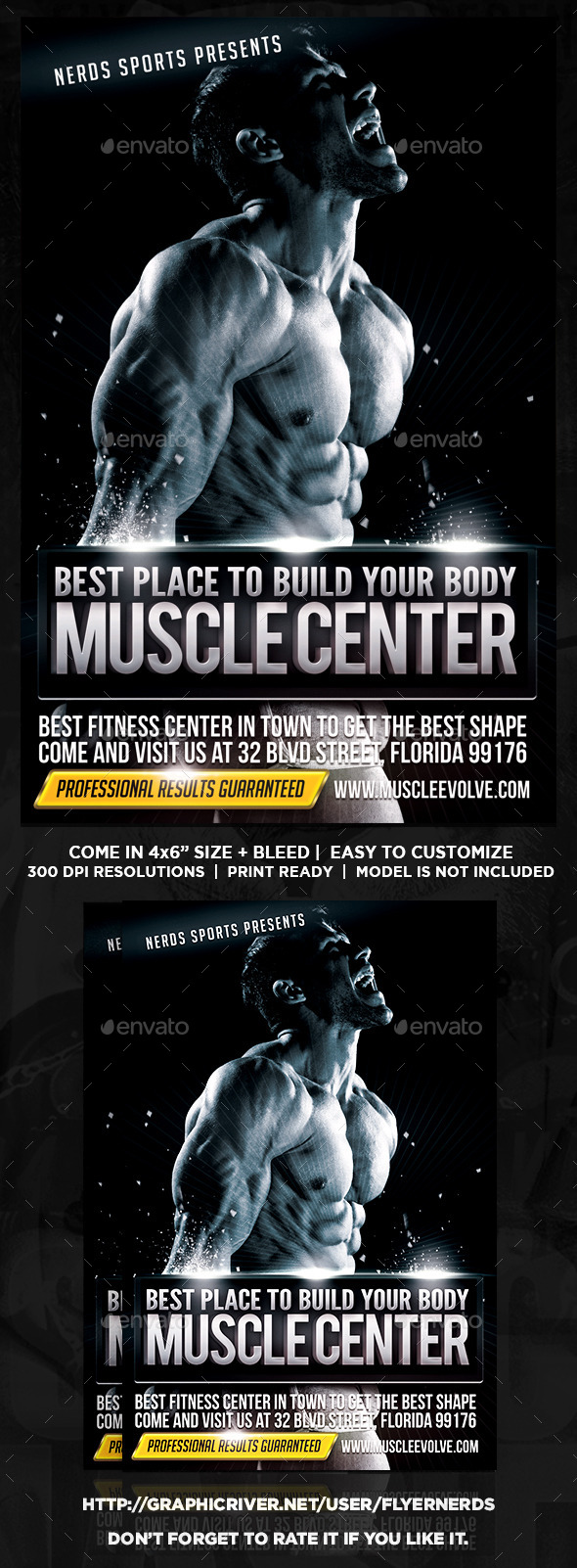 Muscle Center Sports Flyer - Sports Events