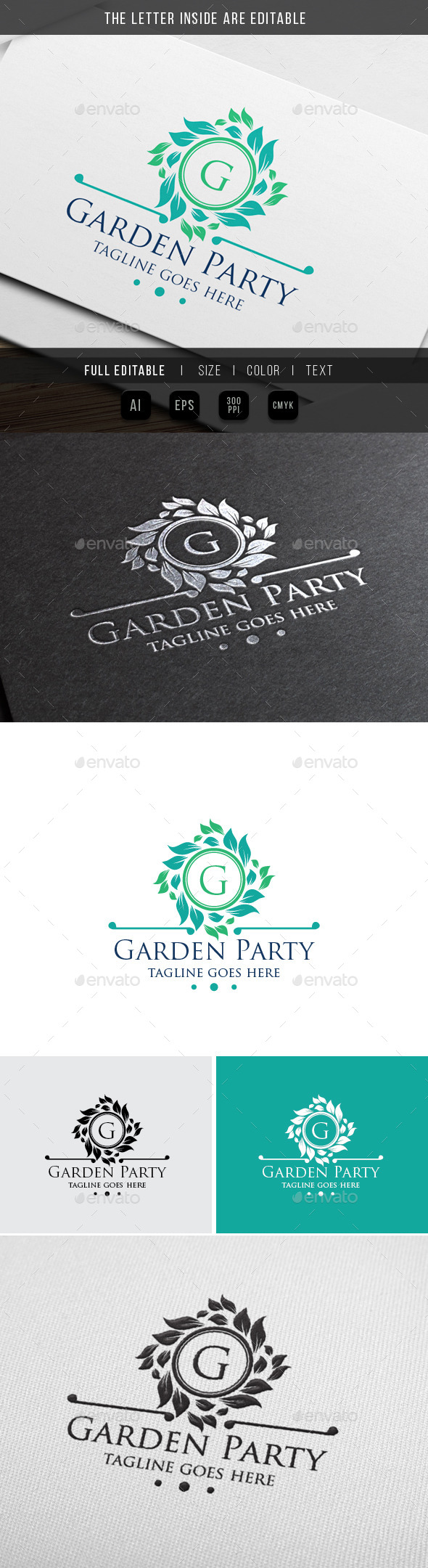 Luxury Garden - Classy Party - Crests Logo Templates