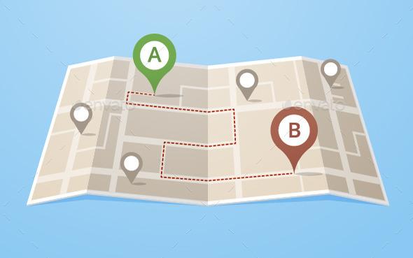 Route - Travel Conceptual
