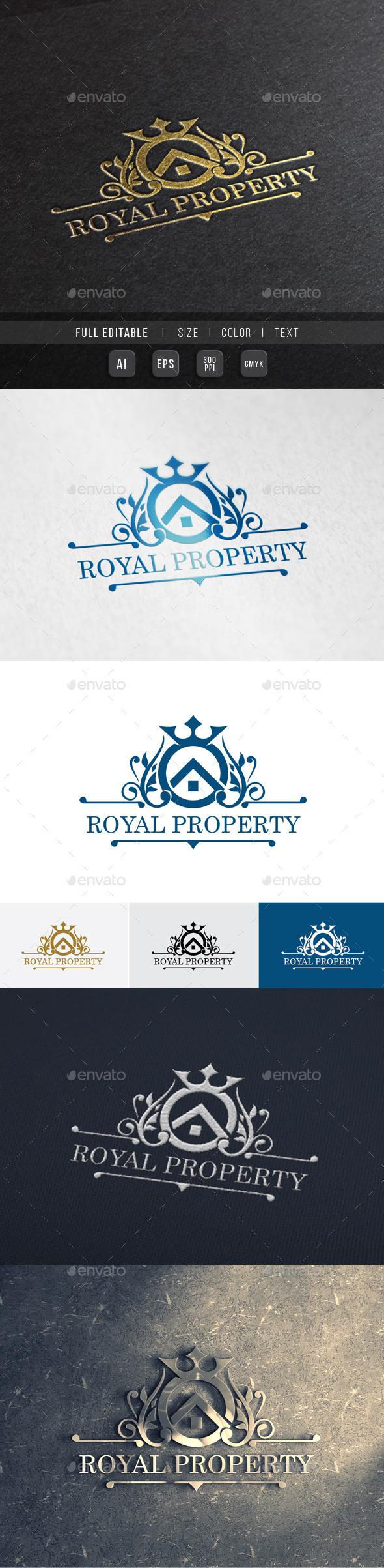 Elite Property - Royal House - Crests Logo Templates