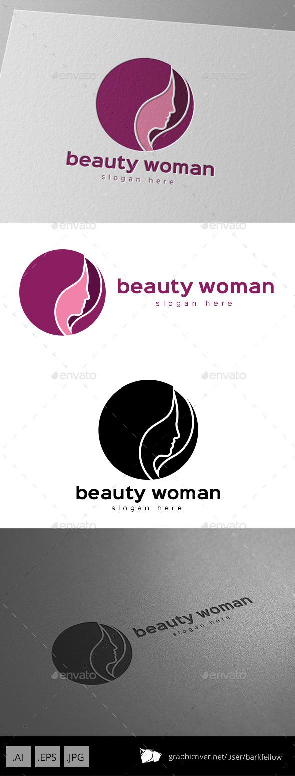 Beauty Woman Hair Logo - Humans Logo Templates