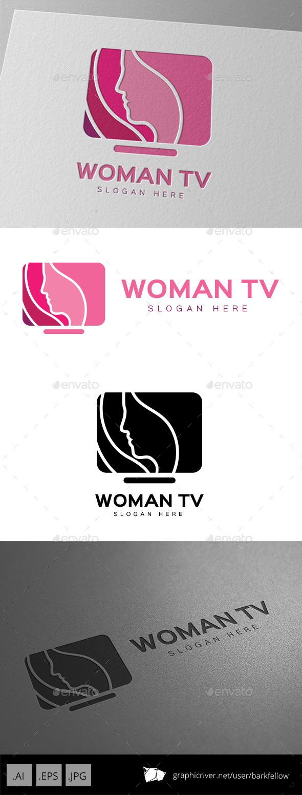 Women TV Shop Logo - Humans Logo Templates