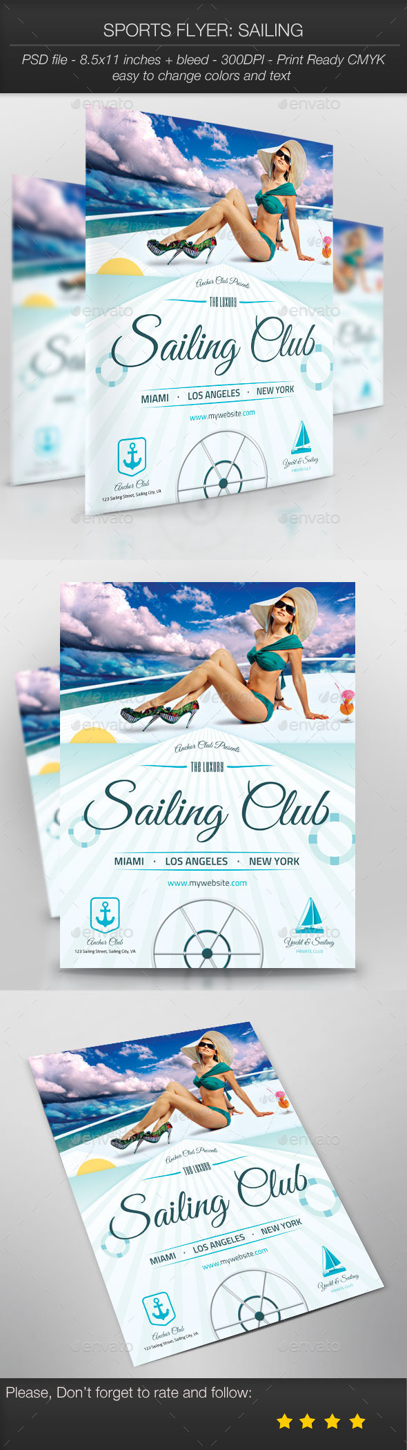 Sports Flyer: Sailing - Sports Events